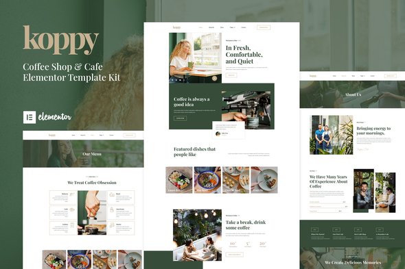 [Free Download] Koppy – Coffee Shop & Cafe Elementor Template Kit (Nulled) [Latest Version]