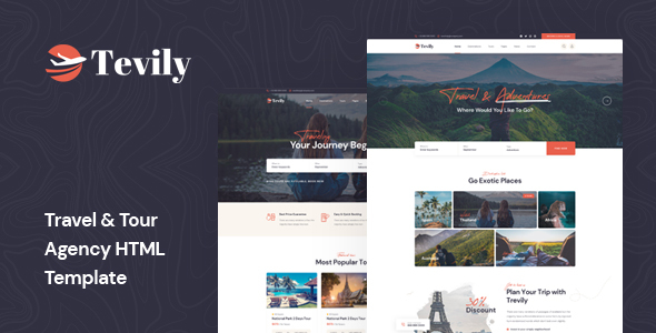 [Free Download] Tevily – Travel & Tour Agency HTML Template (Nulled) [Latest Version]