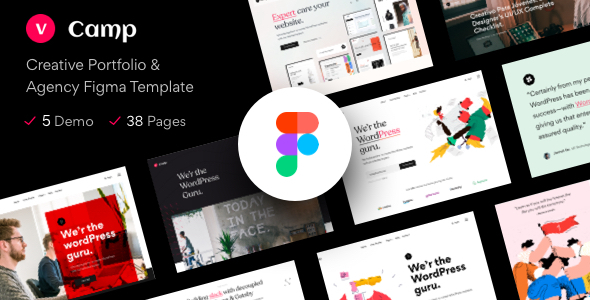 [Free Download] vCamp – Creative Portfolio & Agency Figma Template (Nulled) [Latest Version]