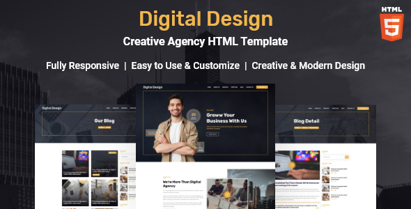 [Free Download] Digital Design – Creative Agency HTML Template (Nulled) [Latest Version]