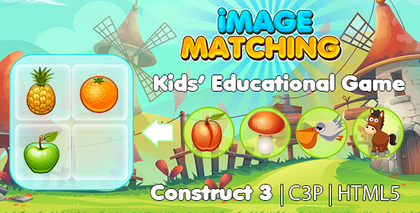[Free Download] Image Matching Kids Learning Game (Construct 3 | C3P | HTML5) Educational Game (Nulled) [Latest Version]