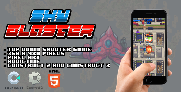 [Free Download] Sky Blaster – Construct 2 I Construct 3 Game (Nulled) [Latest Version]