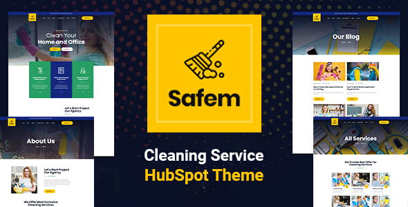 [Free Download] Safem – HubSpot Theme for Cleaning Service Agency (Nulled) [Latest Version]