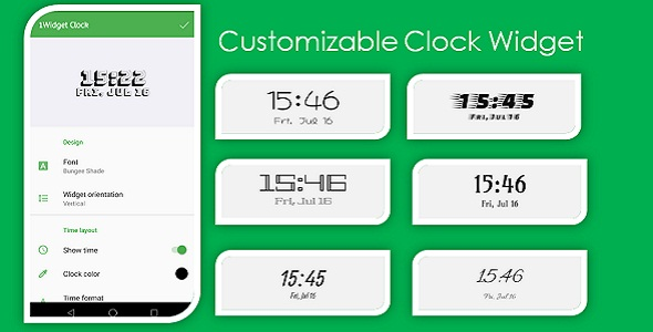[Free Download] Customizable Clock Widget (Nulled) [Latest Version]