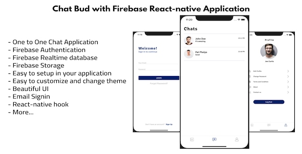 [Free Download] Chat Bud With Firebase React-native application (Nulled) [Latest Version]