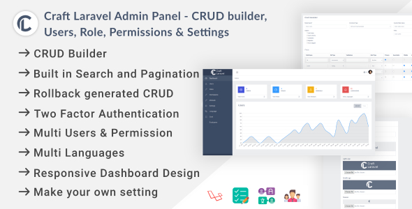 [Free Download] Craft Laravel Admin Panel – CRUD builder, Users, Role, Permissions & Settings (Nulled) [Latest Version]