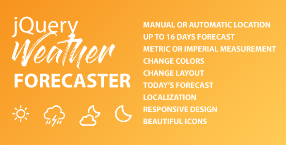 [Free Download] jQuery Weather Forecaster (Nulled) [Latest Version]