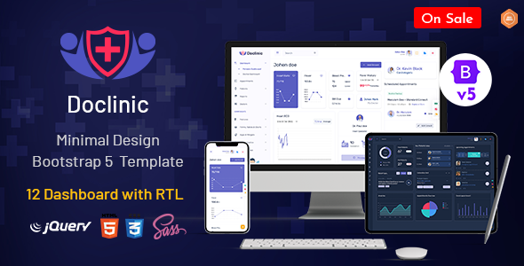 [Free Download] Doclinic – Medical Responsive Bootstrap Admin Dashboard (Nulled) [Latest Version]