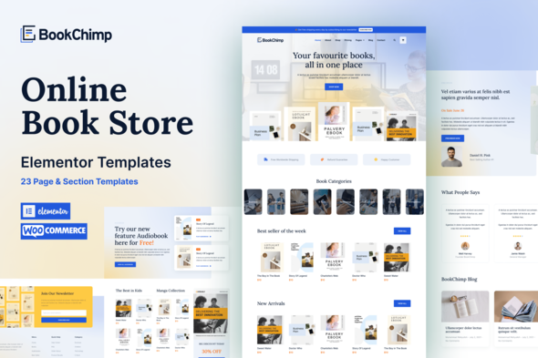 [Free Download] BookChimp – Online Book Store Website Elementor Template Kit (Nulled) [Latest Version]