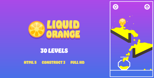 [Free Download] Liquid Orange – HTML5 Game (Construct3) (Nulled) [Latest Version]