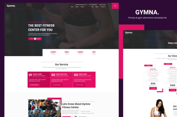 [Free Download] Gymna – Fitness & Gym Elementor Template Kit (Nulled) [Latest Version]