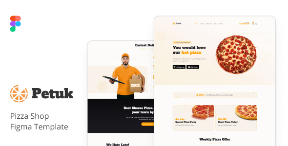 [Free Download] Petuk – Pizza Delivery Shop Figma Template (Nulled) [Latest Version]