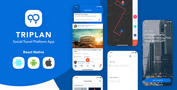 [Free Download] Triplan – Social Travel React Native Template (Nulled) [Latest Version]