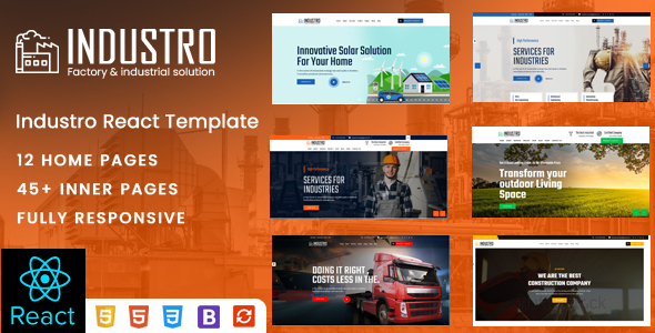 [Free Download] Industro – Factory & Industrial React Template (Nulled) [Latest Version]