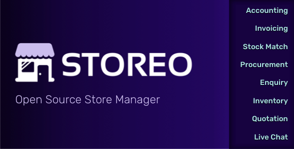 [Free Download] Storeo – Open Source Store Manager for Accounting, Billing & Inventory Management (Nulled) [Latest Version]