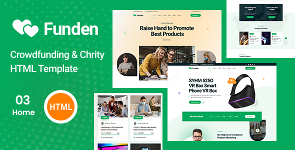 [Free Download] Funden – Crowdfunding & Charity HTML5 Template (Nulled) [Latest Version]