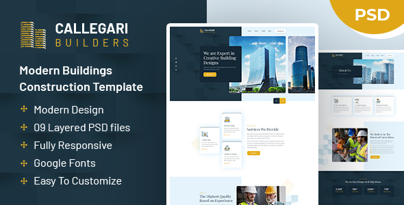 [Free Download] Callegari Builders | PSD Template (Nulled) [Latest Version]