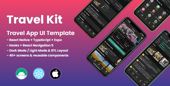 [Free Download] Travel Kit – Mobile React Native Travel & Hotels Template (Nulled) [Latest Version]