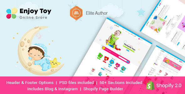 [Free Download] Enjoy – Kids Clothing & Toys Shopify Theme (Nulled) [Latest Version]