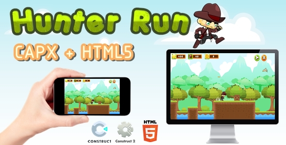 [Free Download] Hunter Run – Construct 2 l Construct 3 Game (Nulled) [Latest Version]