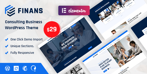 [Free Download] Finans – Consulting Business WordPress Theme (Nulled) [Latest Version]