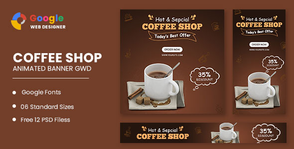 [Free Download] Coffee Shop Animated Banner Google Web Designer (Nulled) [Latest Version]