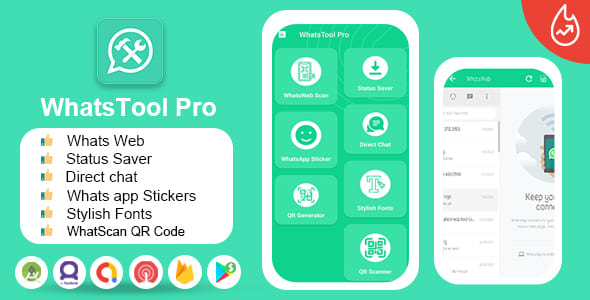 [Free Download] WhatsApp Tools Pro – (For WhatsApp & WhatsApp Business) – DM – Stylish Fonts – QR Generator, Scaner (Nulled) [Latest Version]