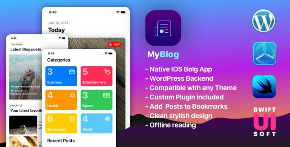 [Free Download] MyBlog – Universal IOS Native App – Compatible with any WordPress Blog Theme (Nulled) [Latest Version]