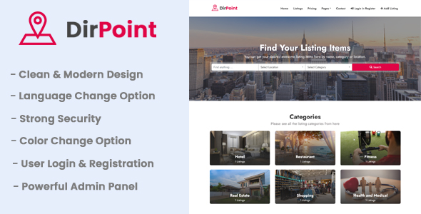 [Free Download] DirPoint – Ultimate Business Directory Listing CMS (Nulled) [Latest Version]