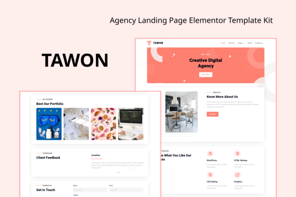 [Free Download] Tawon – Agency Landing Page Elementor Template Kit (Nulled) [Latest Version]