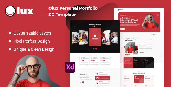 [Free Download] Olux – Creative Personal CV/Resume Portfolio XD Template (Nulled) [Latest Version]
