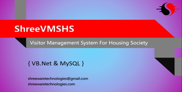 [Free Download] ShreeVMSHS – Visitor Management System for Housing Society in VB.Net and MySQL (Nulled) [Latest Version]