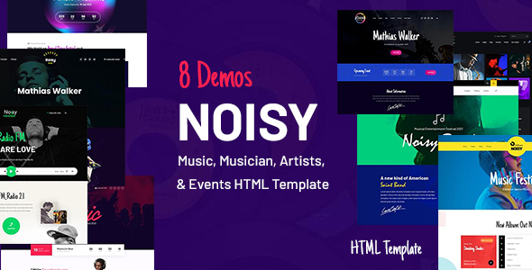 [Free Download] Noisy – Music & Events HTML Template (Nulled) [Latest Version]