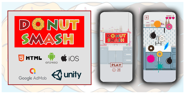[Free Download] Donut Smasher Unity3D   Android, iOS, Html (Nulled) [Latest Version]