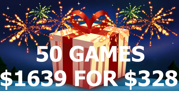 [Free Download] 50 Games Bundle $1639 For $328 (Nulled) [Latest Version]