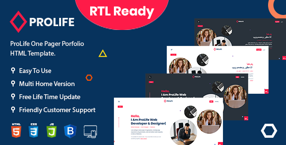 [Free Download] ProLife – Personal Portfolio HTML Template (Nulled) [Latest Version]