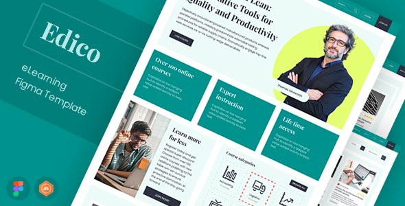 [Free Download] Edico – eLearning Figma Template (Nulled) [Latest Version]