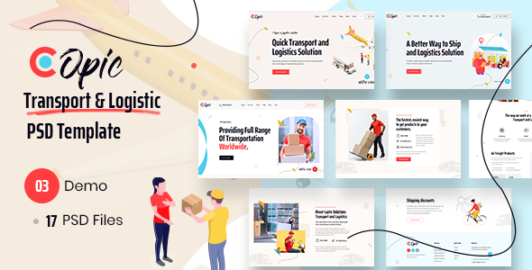 [Free Download] Copic  –  Logistics PSD Template (Nulled) [Latest Version]