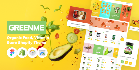 [Free Download] GreenMe – Organic Food, Vitamin Store Shopify Theme (Nulled) [Latest Version]
