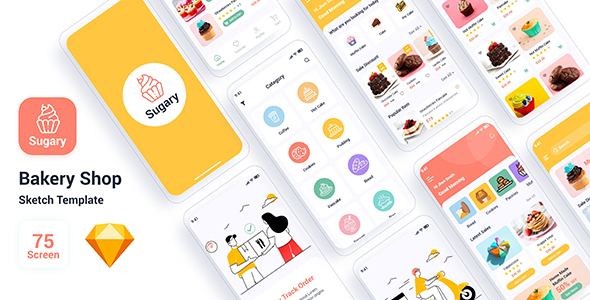 [Free Download] Sugary – Bakery Shop Sketch Template (Nulled) [Latest Version]