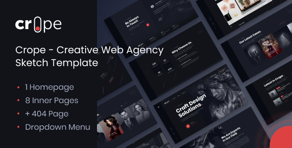 [Free Download] Crope – Creative Web Agency Sketch Template (Nulled) [Latest Version]