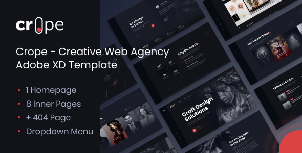 [Free Download] Crope – Creative Web Agency Adobe XD Template (Nulled) [Latest Version]