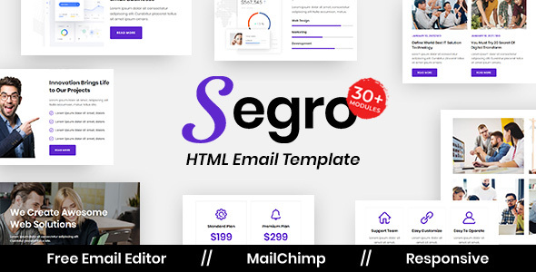 [Free Download] Segro Agency – Multipurpose Responsive Email Template (Nulled) [Latest Version]