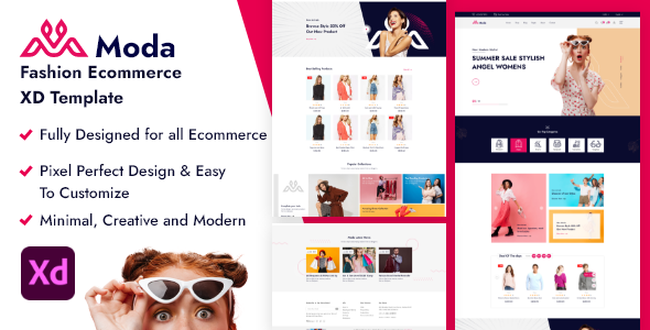 [Free Download] Moda – Fashion Ecommerce XD Template. (Nulled) [Latest Version]