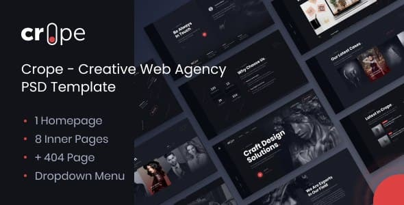 [Free Download] Crope – Creative Web Agency PSD Template (Nulled) [Latest Version]