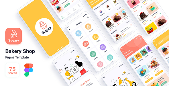 [Free Download] Sugary – Bakery Shop Figma Template (Nulled) [Latest Version]