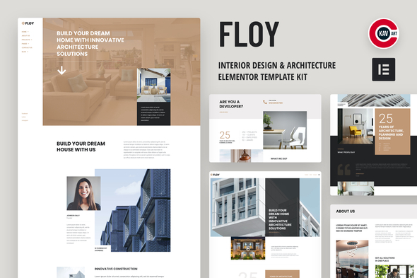 [Free Download] Floy – Interior Design & Architecture Elementor template kit (Nulled) [Latest Version]