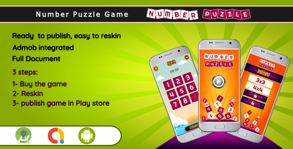 [Free Download] Number Puzzle game – Android Studio Complete Project + admob (Nulled) [Latest Version]