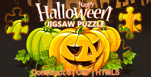 [Free Download] Happy Halloween Jigsaw Puzzle Game (Construct 3   C3P   HTML5) (Nulled) [Latest Version]