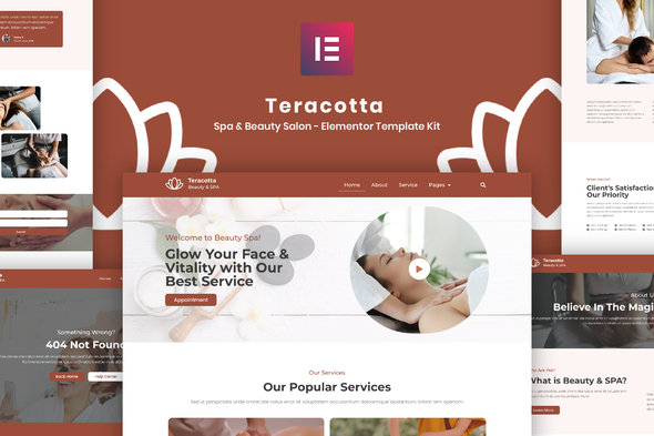 [Free Download] Teracotta – Spa & Beauty Salon – Elementor Template Kit (Nulled) [Latest Version]